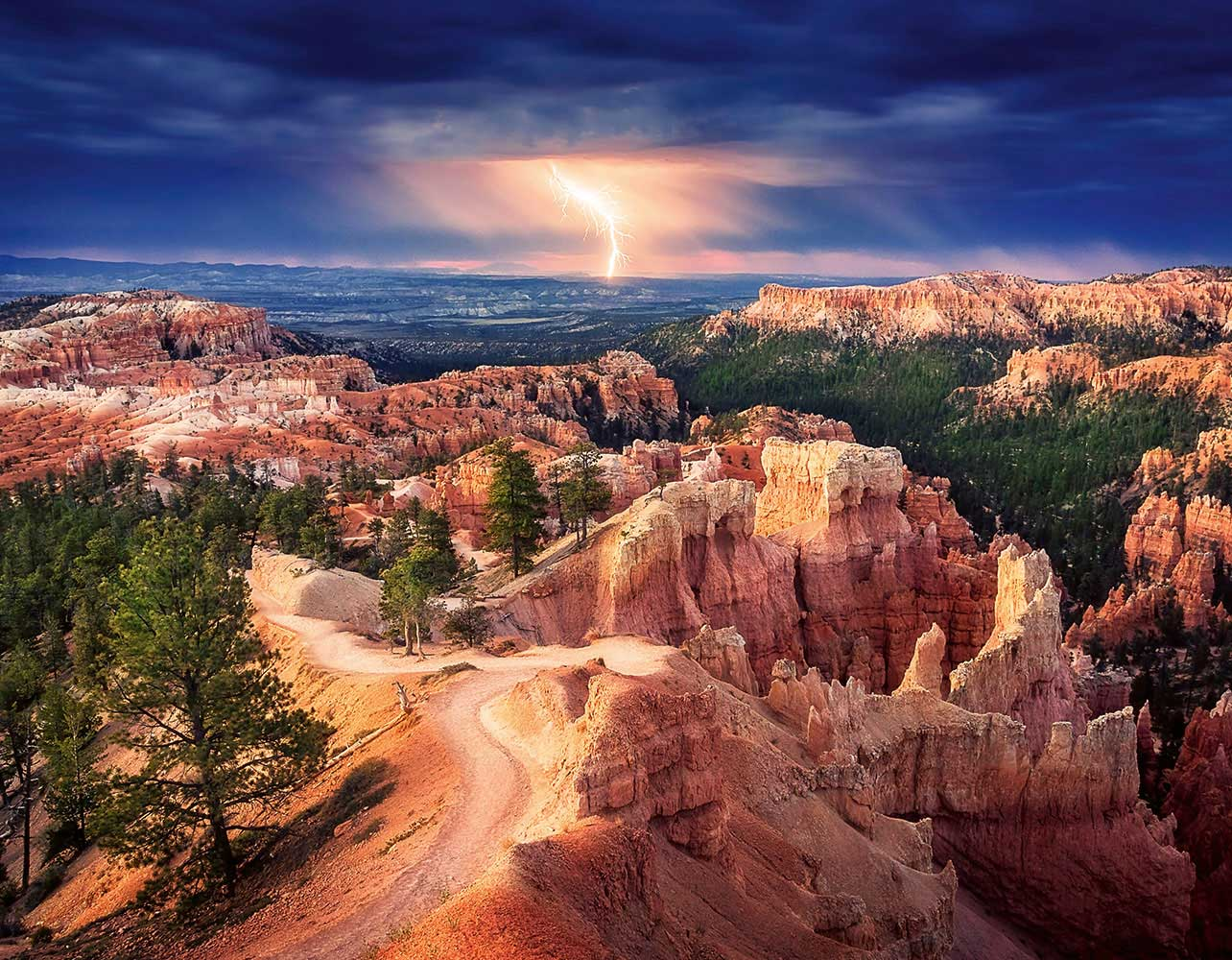 Fototapete kaufen online Lightning over Bryce Canyon WG