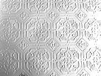 3D Tapete Anaglypta weiß