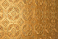 3D Tapete Anaglypta kupfer gold lackiert